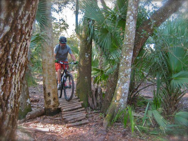 Marshall biking at grassy island trail