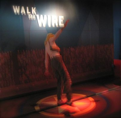 walking the wire at ringling circus museum