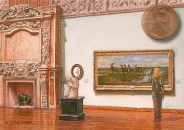 """miniature of Rosa Bonheur's """"Family of Deer"""""""