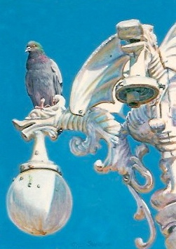 painting of a pigeon