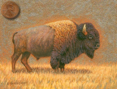 painting of a bison