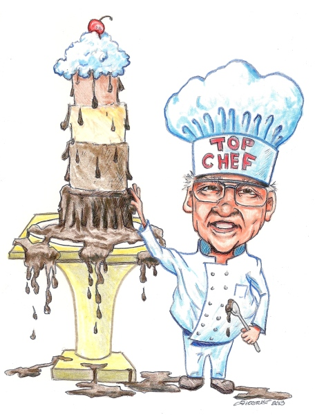 cartoon drawing of a chef