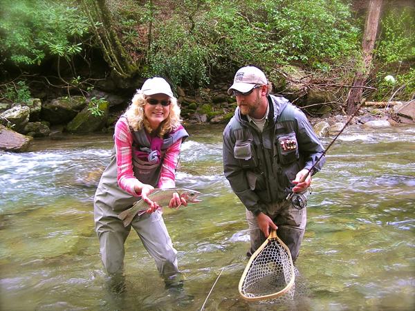 Rachelle Siegrist Trout Fishing