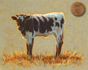 ayrshire cow painting