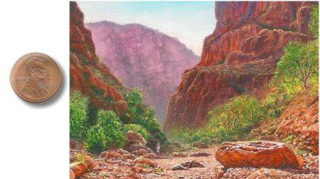 Miniature Landscape Painting by Wes Siegrist