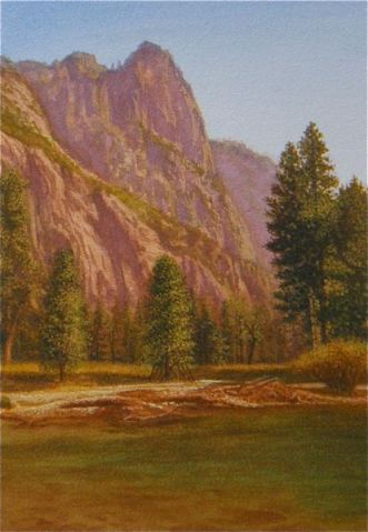 painting of yosemite