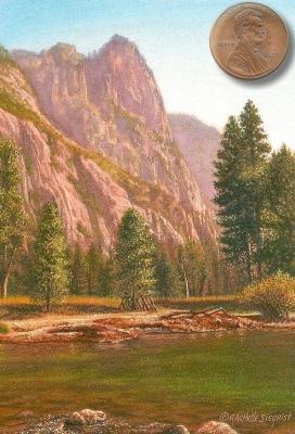 Miniature Landscape Painting by Rachelle Siegrist