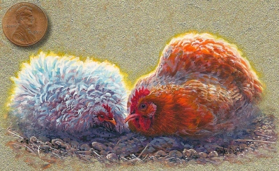 chicken painting