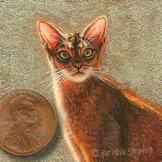 cat portrait painting miniature