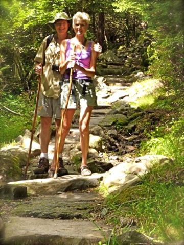 wes and rachelle siegrist on the forney creek trail