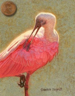bird painting minitaure