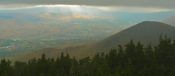 view from the summit of Mt. Equinox