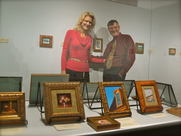 wes and rachelle siedrist by miniature paintings