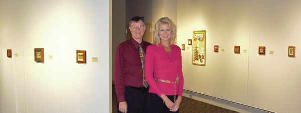 wes and rachelle siegrist at the Kenosha Public museum