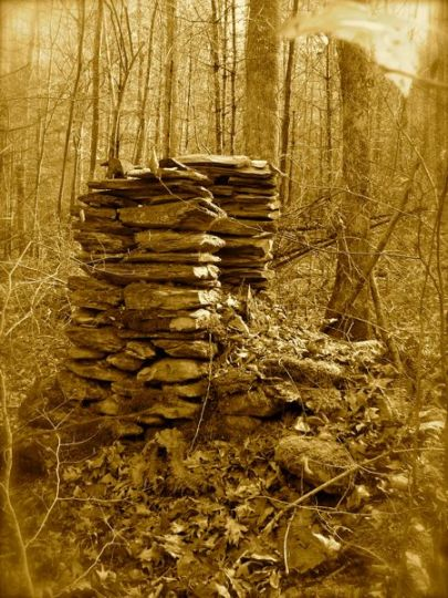 old chimney in the Smoky Mountain National Park