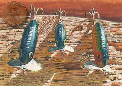 jitterbugs fishing lures painting