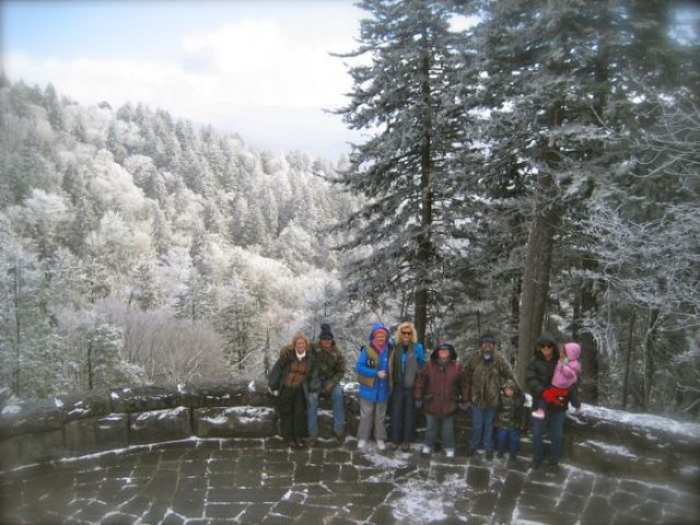 newfound gap with snow