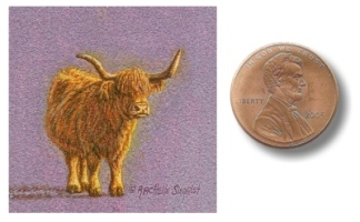miniature cow painting