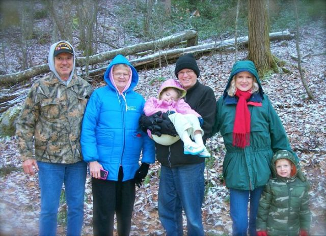christmas hike along middleprong trail