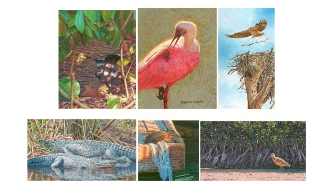 Siegrist Miniature Paintings at MacArthur Beach Invitational Exhibition