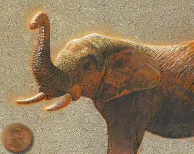 elephant painting miniature