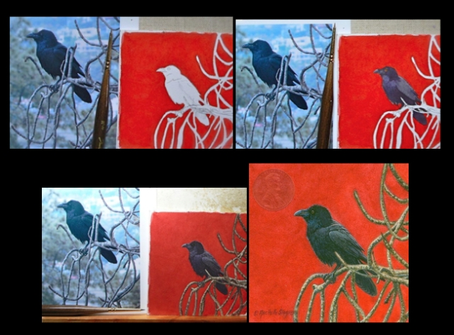 Siegrist miniature painting of a raven step by step