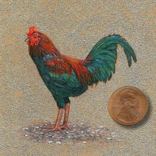 Siegrist Miniature painting of a rooster