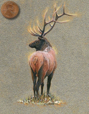 Siegrist miniature painting of an elk