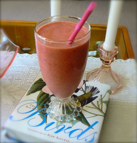 healthy and delicious strawberry smoothie