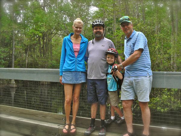 bike trail at highlands hammock state park