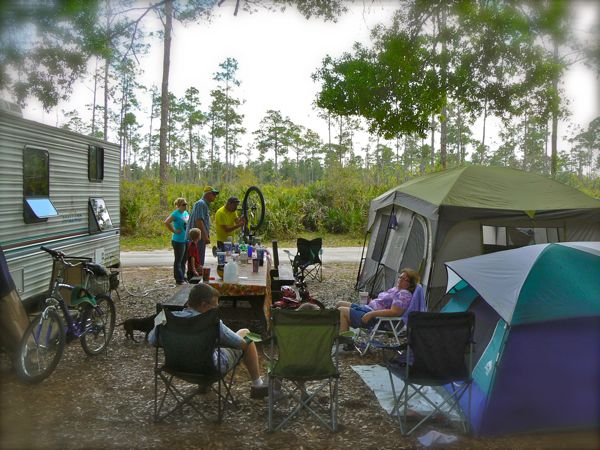 campsite at highlands hammock state park