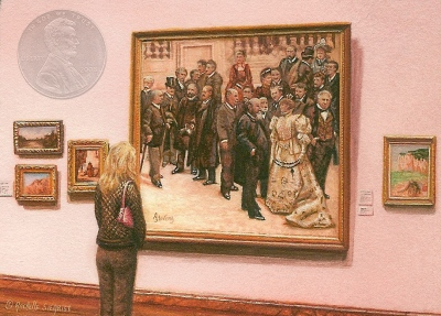Rachelle Siegrist miniature painting Admiring Series