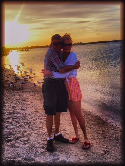wes and rachelle siegrist at ft. pierce beach