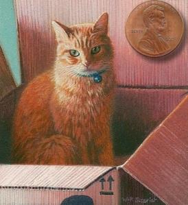 cat painting cat portrait