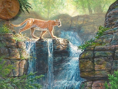 panther painting miniature
