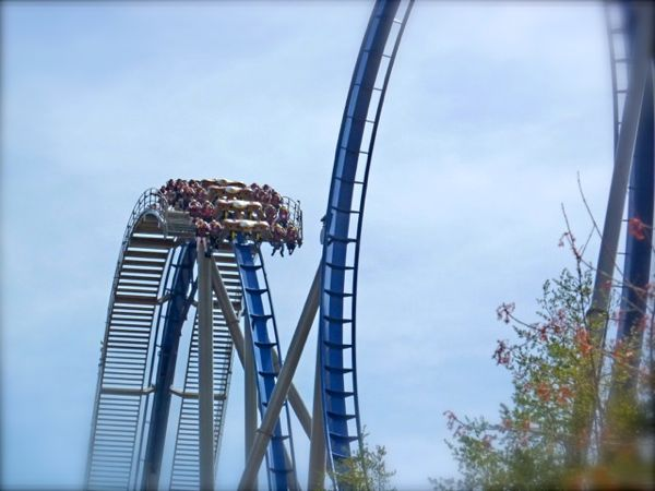 rachelle siegrist riding the eagle at dollywood