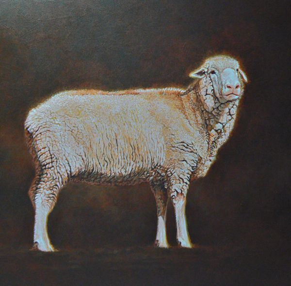 sheep painting sheep portrait