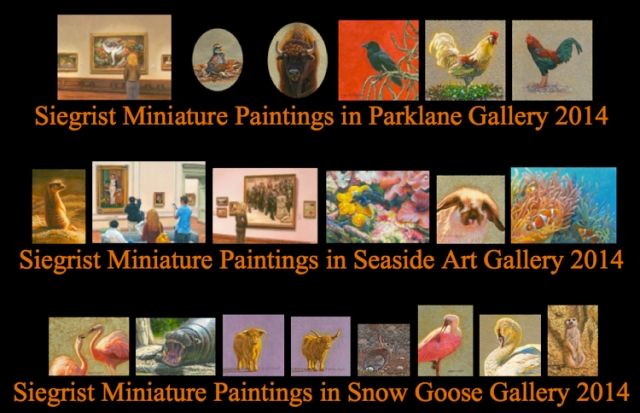 Siegrist Miniature Paintings in 2014 Miniature Shows