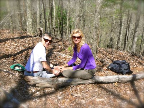 wes and rachelle siegrist on schoolhouse gap trail