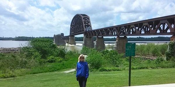 Rachelle on bike path in Louisville