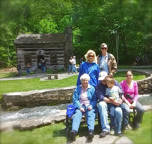 siegrist family at spring mill state park
