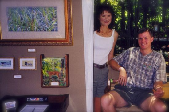 Wes and Rachelle Siegrist exhibiting in 2005 at Silver Springs, FL