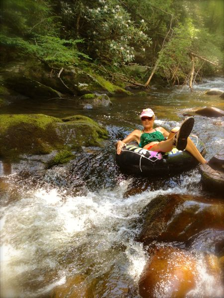 Rachelle sigrist tubing in the smokies