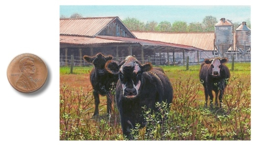 Cow painting by Wes Siegrist