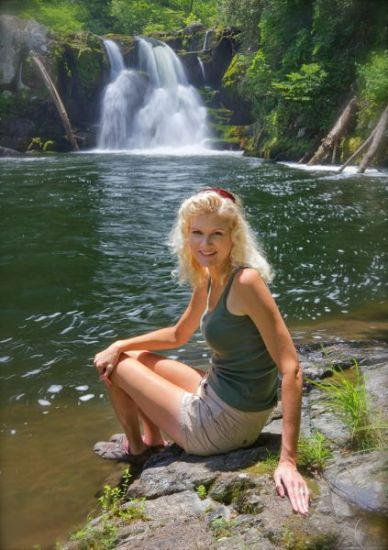 Rachelle at Abrams Falls