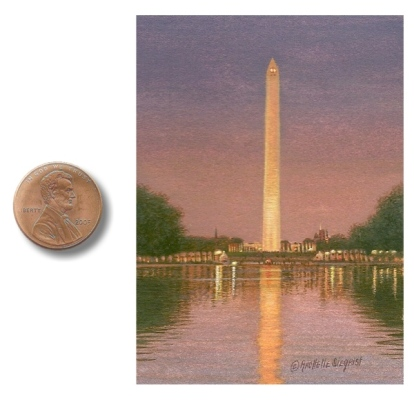 painting of the Washington Monument by Rachelle Siegrist