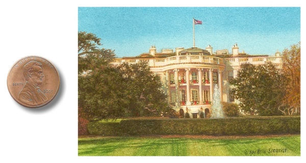 The White House painting by Rachelle Siegrist
