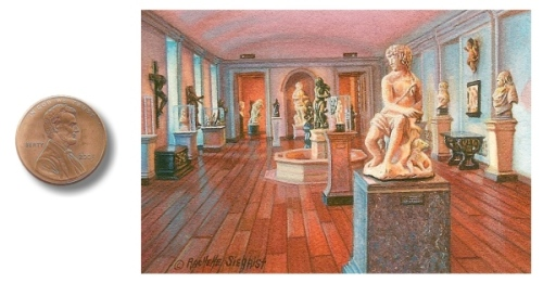 A sculpture room at the National Gallery of Art  by Rachelle Siegrist