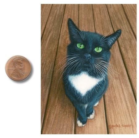 cat painting cat portrait painting by Rachelle Siegrist