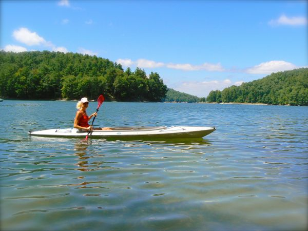 rachelle kayaking lake Glenville